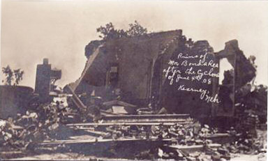 Butcher Photo of June 4th 1908 cyclone in Kearney
